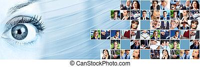 collage., 人 事務, 隊