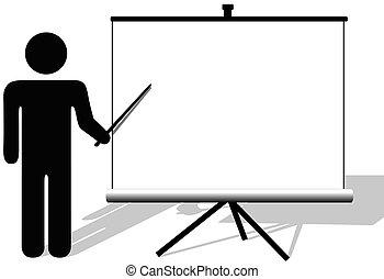 copyspace, 電影, 符號, 點, 表達, 屏幕, 人