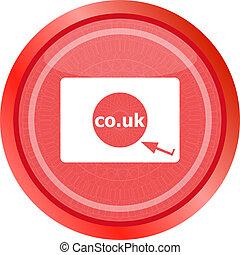 co.uk, 英國, 符號, subdomain, 領域, 簽署, 網際網路, icon.