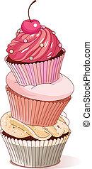 cupcakes, 金字塔