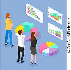 data., 圖像, 學習, 藍色, 餅, 等量, 被隔离, 財政圖表, 酒吧, 商人