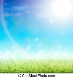 day., 綠色, 陽光普照, 草地