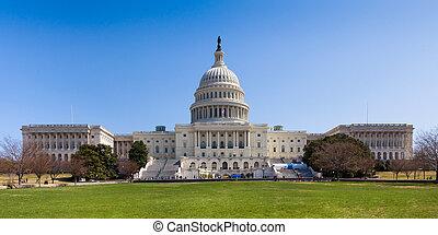 dc, 建築物, 州議會大廈, 我們, 華盛頓
