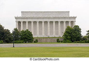 dc, 林肯, 美國, 紀念館, 華盛頓
