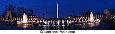 dc., 華盛頓, 全景, 紀念碑