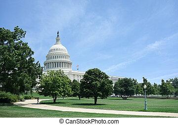 dc, 華盛頓, 看法, 建築物, 州議會大廈