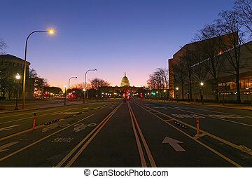 dc., 黎明, 華盛頓, 美國首都