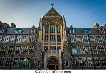 dc., georgetown, 大廳, 大學, 華盛頓, white-gravenor