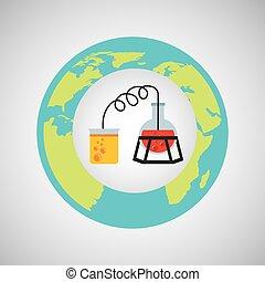 eco, 科學, 過程, 研究, 圖象
