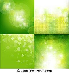 eco, 背景, 集合, 綠色, 迷離