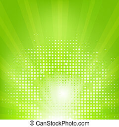 eco, sunburst, 綠色的背景