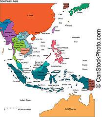 editable, 國家, 名字, 亞洲, 東南