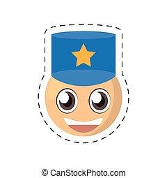 emoticon, 喜劇演員, 圖像, 警察