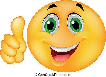 emoticon, 愉快, 微笑的臉