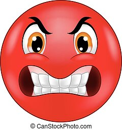 emoticon, 憤怒, 笑臉符, 卡通