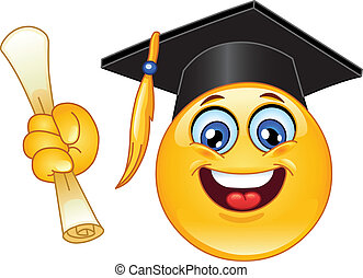 emoticon, 畢業