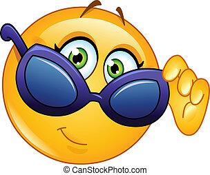 emoticon, 細看, 太陽鏡