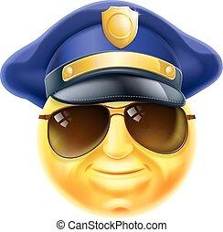 emoticon, 警察, emoji