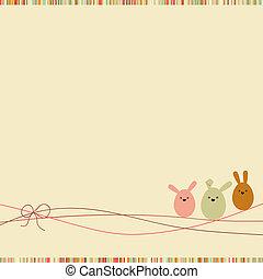 eps, space., 8, 模仿, 復活節, 卡片
