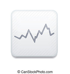 eps10, app, 矢量, 白色, icon., 股票