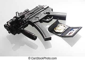 fbi, 徽章, 槍