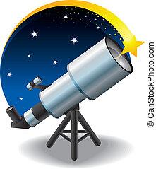 fl, 星, 望遠鏡, 天空