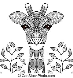 giraff, 著色, 頁
