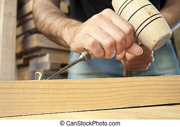 gouge, 工作, 木制, 工具, 鑿子, 木匠, 木頭, 背景
