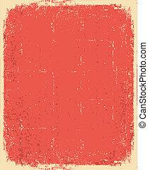 grunge, 結構, 正文, 老, 矢量, paper., 紅色