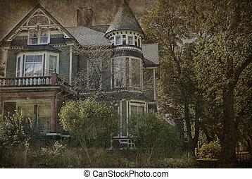 grungy, 房子, victorian