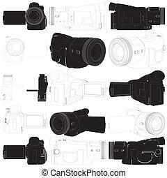 high-definition, 照像機, 影像