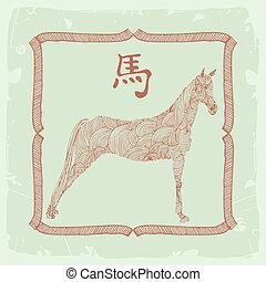 horse-, 漢語, 簽署, 黃道帶