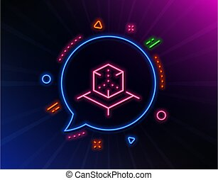 icon., augmented, 模擬, 3d, 徵候。, 矢量, cube., 線, 現實, vr
