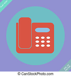illustration., -, 被隔离, 電話, 矢量, 圖象