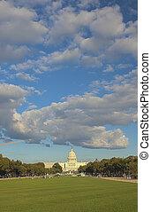 image., 垂直, hdr, 小山, 前面, 建筑物。, 作品, 州議會大廈