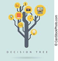 infographic, 圖形, 決定, 樹, 插圖, 矢量