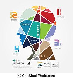 infographic, 概念, 顏色, 插圖, 矢量, 樣板, 旗幟