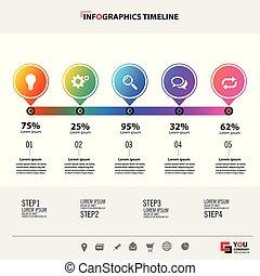 infographic, 概念, illustration., 事務, 矢量, template.