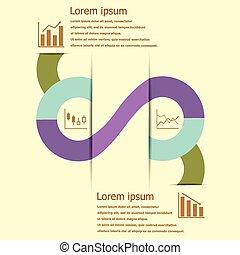 infographic, 設計, 財政, 股票