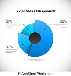 infographic, 設計, 3d