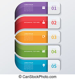 infographics, 現代, 選擇, 事務, banner.