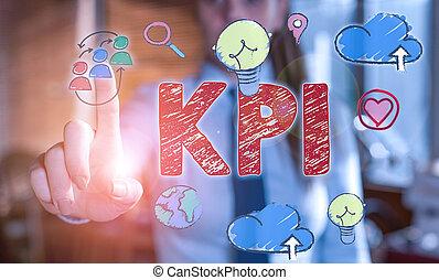 kpi., 組織, showcasing, 寫, 相片, 顯示, 成功, 特殊, activity., 評价, 筆記, 事務