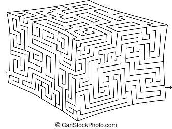 (labyrinth), 迷宮, 立方, 矢量