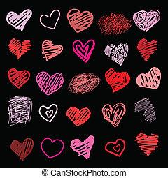 love., 心, isolated., 插圖