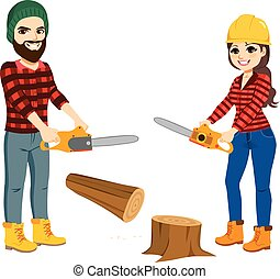 lumberjack, 一起工作