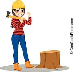 lumberjack, 婦女