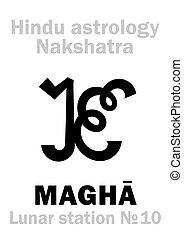 magha, astrology:, 車站, 月, (nakshatra)