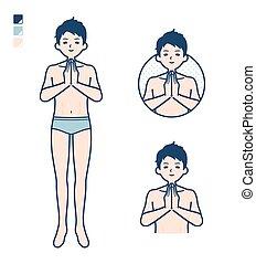 man_prayer, 簡單, 內衣