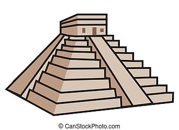 mayan, 金字塔