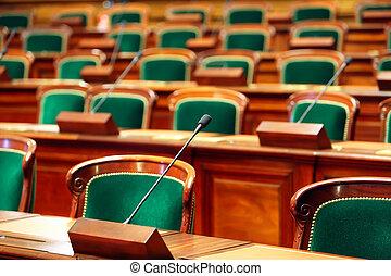microphones., 國會, 葡萄酒, 座位, 大廳, 空